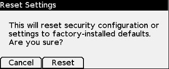 Delete ITL File/Reset Security Settings on Cisco 8800 IP